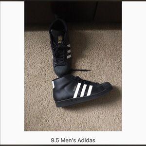 Black men's Adidas size 9.5